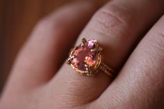 Pink Tourmaline Ring by RefinedRock on Etsy