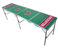 Ohio State University Buckeyes Portable Folding Lightweight Party Table