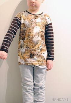 Pöllöilyä (paita pojalle). Sewing owl shirt for boy