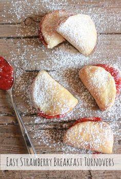 Easy strawberry breakfast turnovers pinteres