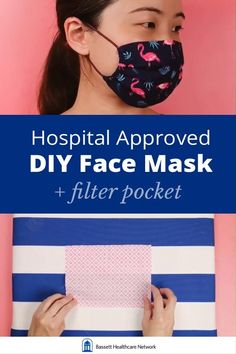 DIY 'Surgical' Face Mask with Filter Pocket & Pleats (Printable Instructions Included) Pleated 'surgical' / 'medical' style face mask sewing tutorial. It has a filter pocket and elastic ears. Sewing Patterns Free, Free Sewing, Sewing Tutorials, Sewing Hacks, Sewing Diy, Free Pattern, Sewing Designs, Small Sewing Projects, Sewing Blogs