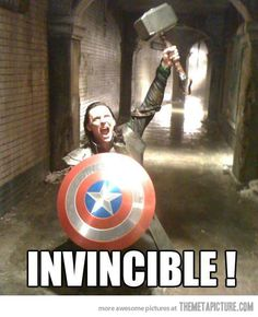 He is invincible now…I guess we can all get what we want if we keep trying. ;)