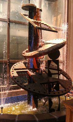 Repurposed metal fountain!
