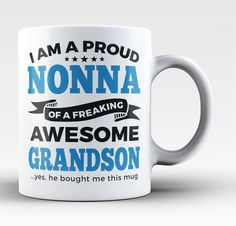 Proud Nonna of An Awesome Grandson - Mug