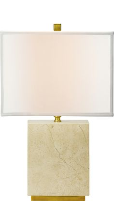 """Erie Table lamp  Height: 22""""  Base: 8""""  Shade: 14"""" x 8"""" Top / 14"""" x 8"""" Bottom / 10 1/2"""" Side - Rectangle  $440.00  **See this item in our 3D Design Set**"""