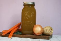 aking your own vegetable broth is easier than you think. Just a bunch of vegetables, chopped and boiled and one hour later you have stock ready to go. Recipes With Vegetable Broth, Create A Recipe, What's Cooking, What To Cook, Meals For The Week, Fennel, Vegan Vegetarian, Stuffed Peppers