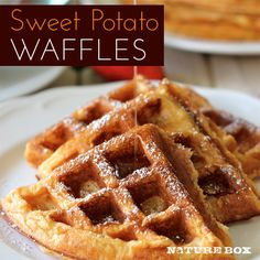 Healthy & filling sweet potato waffles!