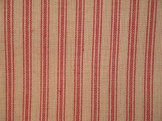 Ticking-Fabric-Red-Stripe-Cotton-Homespun-Woven $4.75 to $10.95
