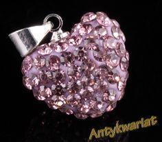 G1320 KR ZAWIESZKA SHAMBALLA CYRKONIE SERCE 15mm 1szt Heart Ring, Rings, Jewelry, Jewlery, Jewerly, Ring, Schmuck, Heart Rings, Jewelry Rings