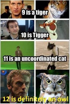 Matt Smith as an Uncoordinated cat. Yes!!!