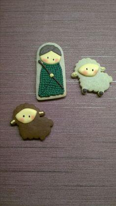 Cookies - Christmas - Shepherd and his sheep