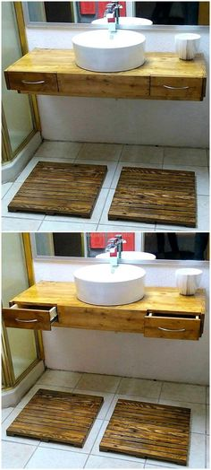 creative pallet sink plan