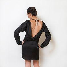 Backless dress Elegant black Dress Evening Dress by ElianaStudio