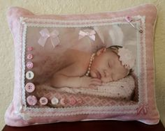 CUSTOM Photo Baby Pillow created as one of a by PillowArtByLee