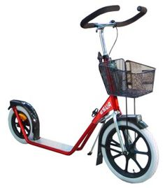 """Potkulauta 4100 punainen Apparently this is """"Push Kick Scooter with Basket"""""""
