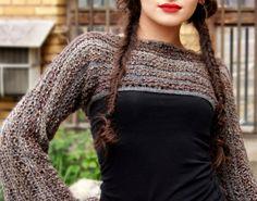 boho sweater / cropped sweater / shrug by BonniesCinematheque, €63.00