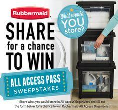 Rubbermaid Contest: Win All Access Organizers!