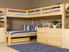 Le lit mezzanine et bureau - plus d'espace