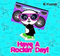 lil'panda Rockin panda #panda