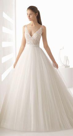 Courtesy of Rosa Clara wedding dresses; www.rosaclara.es; Wedding dress idea. #weddingdress