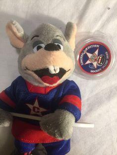 RARE Chuck E Cheese Limited Edition Hocky Plush 2010 Stuffed Animal #chuckecheese #limitededition #hocky #stuffedanimal #plush #toys Chuck E Cheese, Plush, Teddy Bear, Games, Toys, Animals, Ebay, Activity Toys, Animales