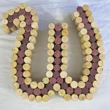 wine cork monogram - letter 'W'