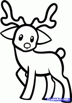 raindeer drawing | How to Draw a Reindeer For Kids, Step by Step, Animals For Kids, For ...