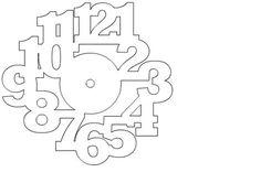Nerd Club: Laser cut Christmas clocks and files