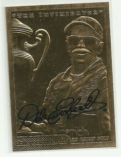 """2001 DALE EARNHARDT """"The Intimidator"""" 23 Kt Gold Autographed Card #3 Serial #d"""