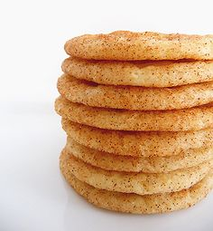 Snickerdoodle cookies--one of my all time favorites and I haven't had them in FOREVER. This recipe suggests slapping some vanilla ice-cream between two cookies when they're done--sounds like a good plan to me! (;