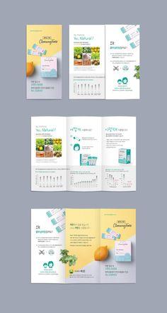 브로셔 / 리플렛 | 먹는 구강파우더(구강청결제) 리플릿 디자인 | 라우드소싱 Leaflet Layout, Booklet Layout, Leaflet Design, Flyer Layout, Brochure Layout, Brochure Template, Design Poster, Flyer Design, Mises En Page Design Graphique