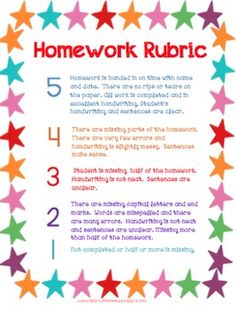 Ever have trouble assessing students on their classwork, behavior and homework?  This rubric is just for you....it has scores and descriptions to evaluate your little ones for the week. Just Wild About Teaching