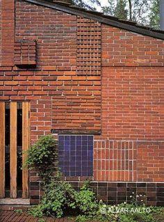 Frente de una casa Moderna de veraneo diseño del gran Alvar Aalto - Fundación www.alvaraalto.fi