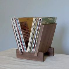 porta lp suporte apoio organizador disco vinil 100 discos