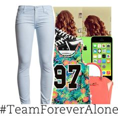 im sad and lonely by swaggerkayla on Polyvore featuring 7 For All Mankind, Converse and Ted Baker