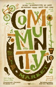 community market poster design