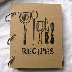 blank recipe book, inspiration!