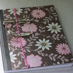 "How to Decorate a Composition Journal: These are basic step-by-step instructions on how to turn a plain cheap journal into a ""handmade"" gift for a friend in just minutes! Crafts For Teens, Crafts To Make, Arts And Crafts, Paper Crafts, Diy Crafts, Teen Crafts, Composition Notebook Covers, Altered Composition Notebooks, Notebook Diy"