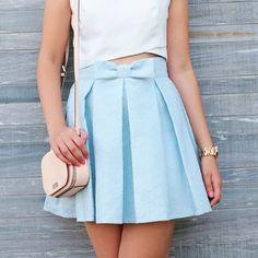 Nouveau look sur mon blog 😉 (lien en bio) #outfit #summer #babyblue #chicwish