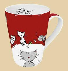 Monique Globetrotter Cat Mug (Set of Happy Larry Cat Coffee Mug, Cat Mug, Coffee Cups, Drink Coffee, Crazy Cat Lady, Crazy Cats, Stars Disney, Porcelain Mugs, Ceramic Bisque