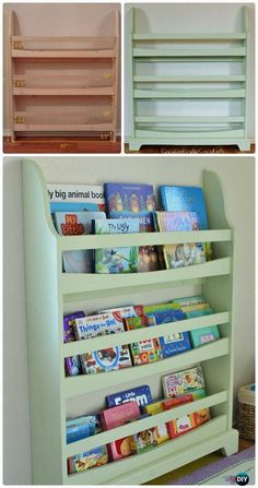 diy pottery barn kids madison bookrack free plan instructions back to school kids furniture diy ideas projects - Kid Bookshelves