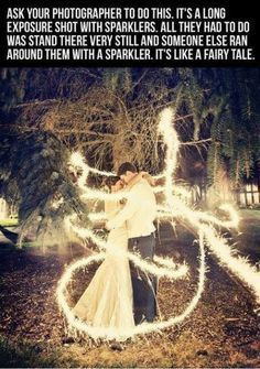 Magical Wedding Shot