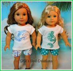 "GiGi's Doll and Craft Creations: American Girl Doll Clothes ""Under The Sea Collections"" by GiGi's Doll Creations"