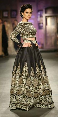 Black Indian Lehenga. Couture. Modern.