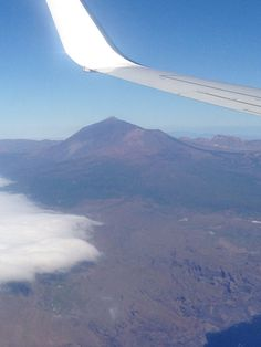 Mount Teide from the air, coming in to land at Tenerife Airport ! X