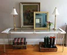 How to make an entryway console table