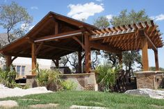 HOMEFIELD Outdoor Pavilion. Interesting to transition with a pergola. Hmm....