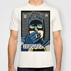 Post-Punk Comix: Bat Curtis T-shirt by Butcher Billy - $22.00 I fucking need this so badly