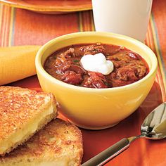 30-Minute Chili   Homemade chili doesn't have to be a labor-intensive meal. Try this easy chili recipe for a satisfying meal tonight.