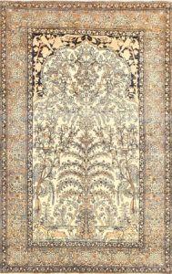 Antique Prayer Design Persian Isfahan Rug 50645